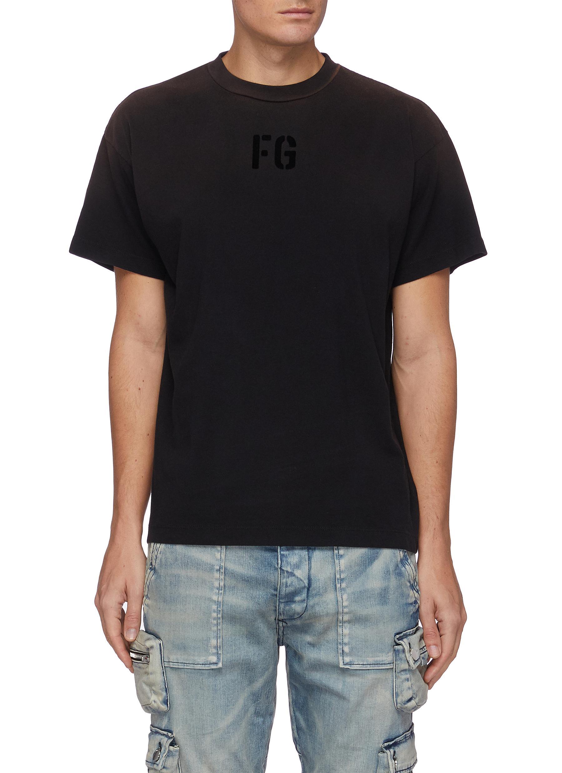 Fear Of God T-shirts FLEECE LOGO COTTON JERSEY T-SHIRT