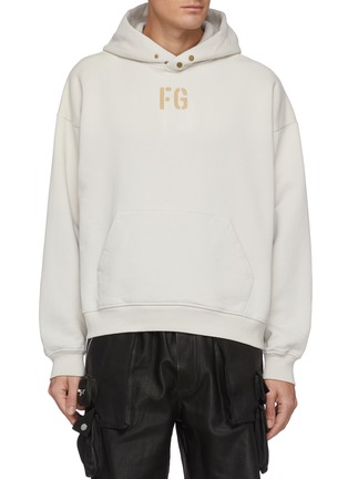 Main View - Click To Enlarge - FEAR OF GOD - Fleece Logo Hoodie
