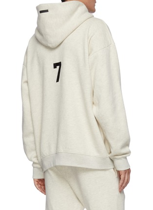 Back View - Click To Enlarge - FEAR OF GOD - Alphabet Print Cotton Fleece Hoodie