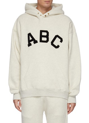 Main View - Click To Enlarge - FEAR OF GOD - Alphabet Print Cotton Fleece Hoodie