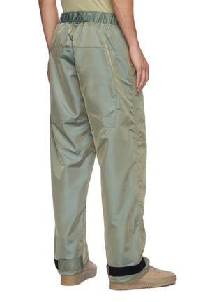 Back View - Click To Enlarge - FEAR OF GOD - Drawstring Waist Velcro Hem Iridescent Nylon Blend Pants