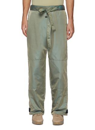 Main View - Click To Enlarge - FEAR OF GOD - Drawstring Waist Velcro Hem Iridescent Nylon Blend Pants