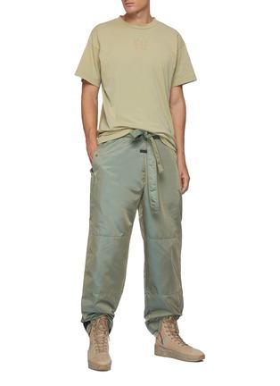 Figure View - Click To Enlarge - FEAR OF GOD - Drawstring Waist Velcro Hem Iridescent Nylon Blend Pants