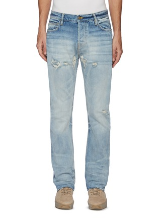 Main View - Click To Enlarge - FEAR OF GOD - Distressed Detail Whiskered Denim Jeans