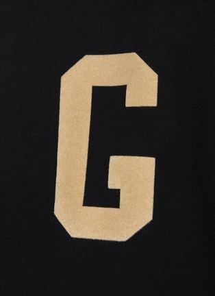 - FEAR OF GOD - 'G' Alphabet Print Cotton Fleece Sweatshirt