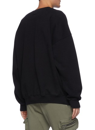 Back View - Click To Enlarge - FEAR OF GOD - 'G' Alphabet Print Cotton Fleece Sweatshirt
