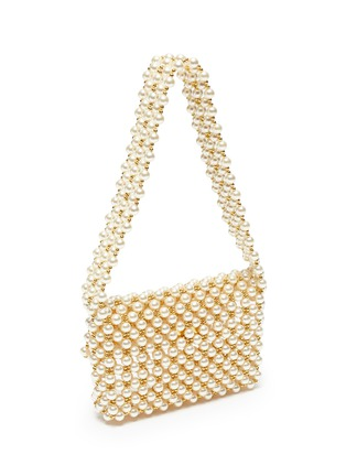 Detail View - Click To Enlarge - VANINA - 'Pearl Mist' baguette shoulder bag