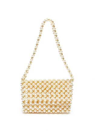 Main View - Click To Enlarge - VANINA - 'Pearl Mist' baguette shoulder bag