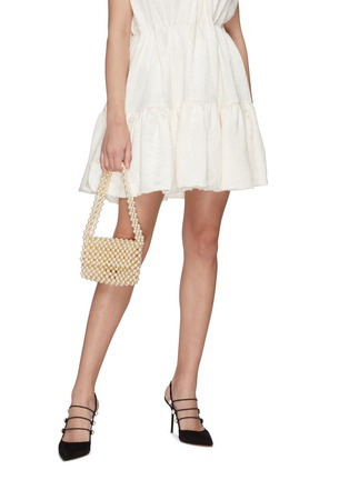 Figure View - Click To Enlarge - VANINA - 'Pearl Mist' baguette shoulder bag