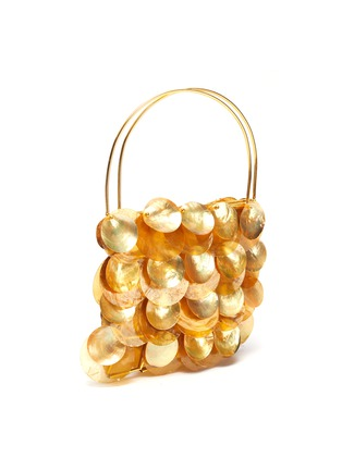 Detail View - Click To Enlarge - VANINA - AILES D'ECAILLES' Natural Shell Embellished Top Handle Bag