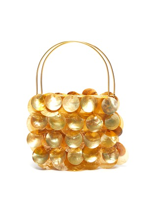 Main View - Click To Enlarge - VANINA - AILES D'ECAILLES' Natural Shell Embellished Top Handle Bag