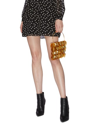 Figure View - Click To Enlarge - VANINA - AILES D'ECAILLES' Natural Shell Embellished Top Handle Bag