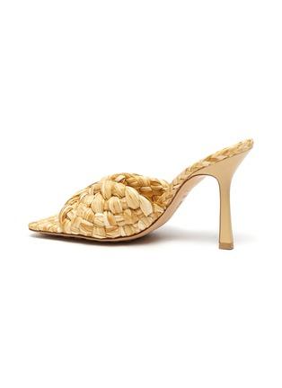 - BOTTEGA VENETA - Square toe Intrecciato raffia sandals