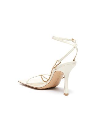 - BOTTEGA VENETA - Chain anklet square toe leather sandals
