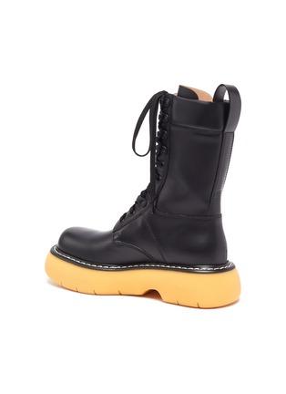 - BOTTEGA VENETA - 'THE BOUNCE' Tread Sole Leather Combat Boots