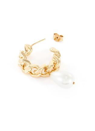 Detail View - Click To Enlarge - ROSANTICA - 'Comedy' pearl hoop earrings