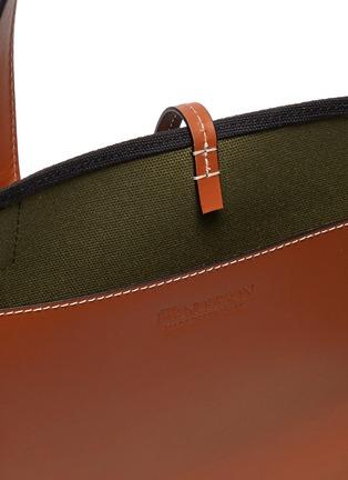 Detail View - Click To Enlarge - JW ANDERSON - Logo Embroidered Belt Shoulder Strap Tote