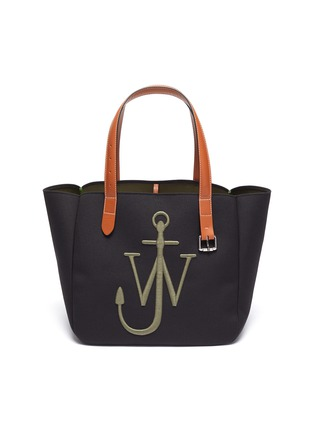 Main View - Click To Enlarge - JW ANDERSON - Logo Embroidered Belt Shoulder Strap Tote