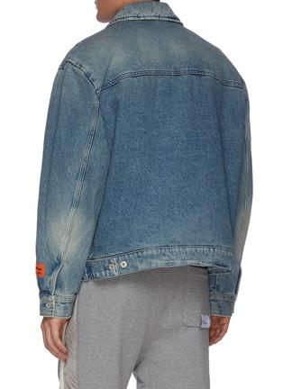 Back View - Click To Enlarge - HERON PRESTON - Logo patch denim worker jacket