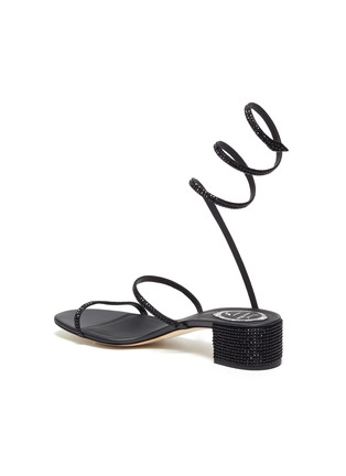 - RENÉ CAOVILLA - Cleo' chandelier strass coil anklet satin sandals