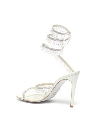 - RENÉ CAOVILLA - Cleo' chandelier strass coil anklet satin heel sandals