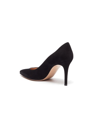 - GIANVITO ROSSI - GIANVITO 85 SUEDE LEATHER PUMPS