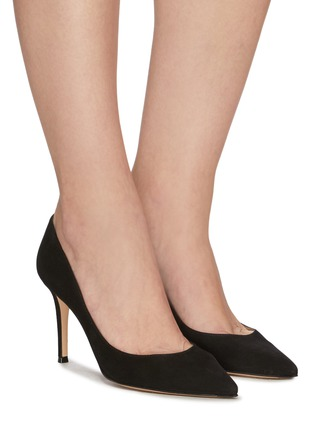 Figure View - Click To Enlarge - GIANVITO ROSSI - GIANVITO 85 SUEDE LEATHER PUMPS