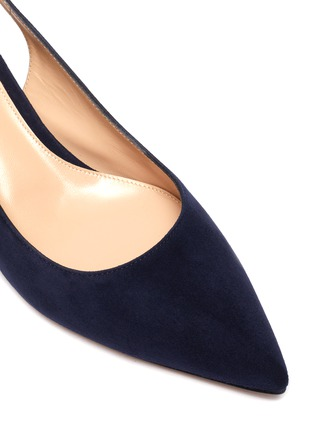 Detail View - Click To Enlarge - GIANVITO ROSSI - Amee' Point Toe Block Heel Slingback Suede Pumps