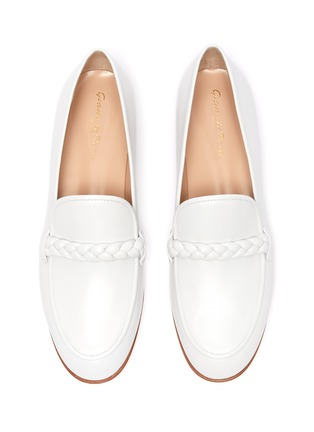 Detail View - Click To Enlarge - GIANVITO ROSSI - Braided Strap Moccasin Loafers
