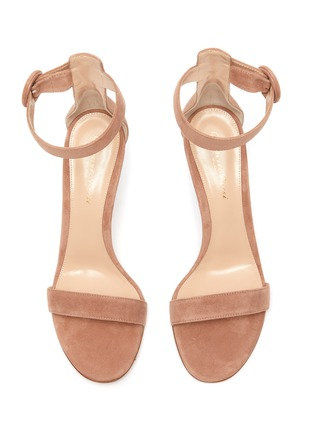 Detail View - Click To Enlarge - GIANVITO ROSSI - Portofino 85' Ankle Strap Heeled Suede Sandals