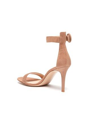 - GIANVITO ROSSI - Portofino 85' Ankle Strap Heeled Suede Sandals