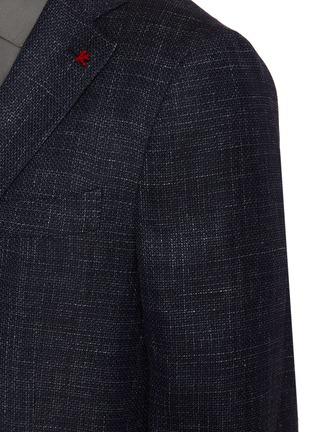 - ISAIA - Notched lapel denim effect blazer