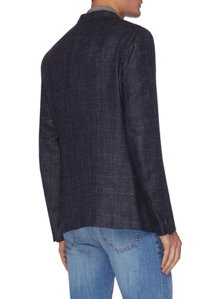 Back View - Click To Enlarge - ISAIA - Notched lapel denim effect blazer