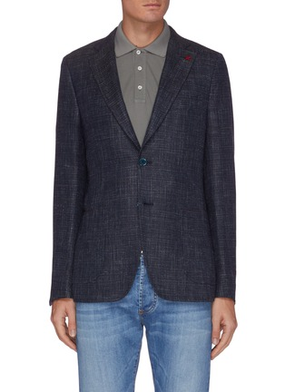 Main View - Click To Enlarge - ISAIA - Notched lapel denim effect blazer