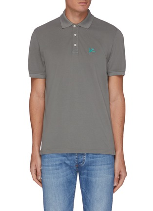 Main View - Click To Enlarge - ISAIA - Coral logo patch polo shirt