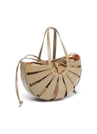 Detail View - Click To Enlarge - BOTTEGA VENETA - Basket leather tote with nylon pouch