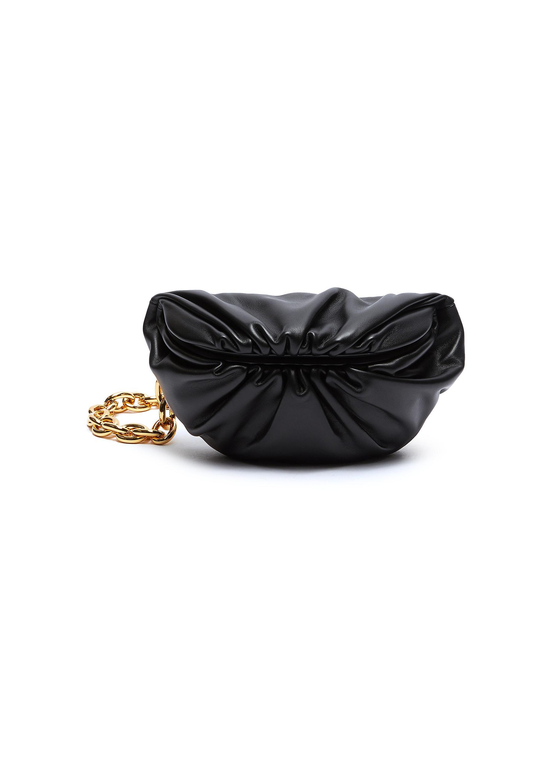 Bottega Veneta The Pouch' Chain Leather Shoulder Bag In Black