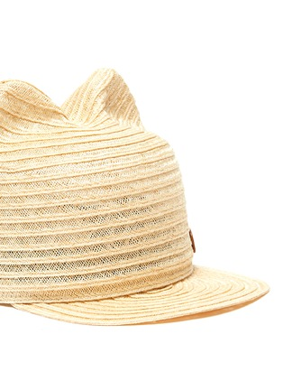 Detail View - Click To Enlarge - MAISON MICHEL - Jamie' cat ear kids straw hat