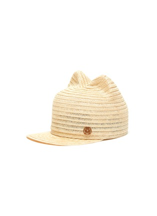 Main View - Click To Enlarge - MAISON MICHEL - Jamie' cat ear kids straw hat