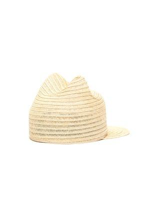 Figure View - Click To Enlarge - MAISON MICHEL - Jamie' cat ear kids straw hat