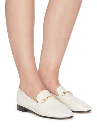 Figure View - Click To Enlarge - PEDDER RED - REX' Horsebit Leather Loafers