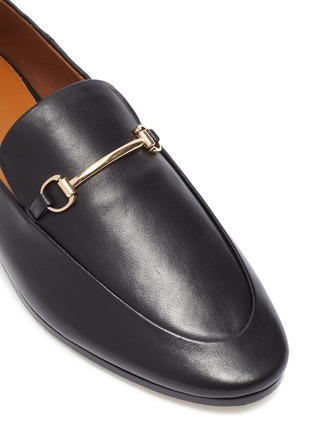 Detail View - Click To Enlarge - PEDDER RED - 'REX' Horsebit Leather Loafers