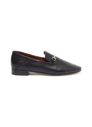 Main View - Click To Enlarge - PEDDER RED - 'REX' Horsebit Leather Loafers