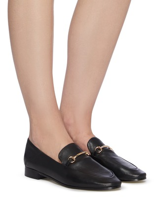 Figure View - Click To Enlarge - PEDDER RED - 'REX' Horsebit Leather Loafers