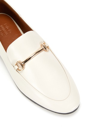 Detail View - Click To Enlarge - PEDDER RED - 'Rex' Almond Toe Leather Horsebit Loafers