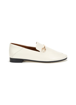 Main View - Click To Enlarge - PEDDER RED - 'Rex' Almond Toe Leather Horsebit Loafers