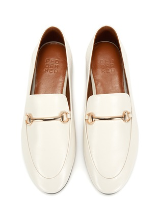 Figure View - Click To Enlarge - PEDDER RED - 'Rex' Almond Toe Leather Horsebit Loafers