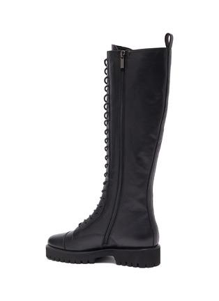 - PEDDER RED - 'Dakota' Tall Leather Combat Boots