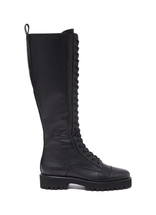 Main View - Click To Enlarge - PEDDER RED - 'Dakota' Tall Leather Combat Boots