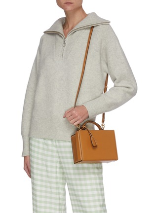 Front View - Click To Enlarge - MARK CROSS - Grace' Top Handle Small Box Bag